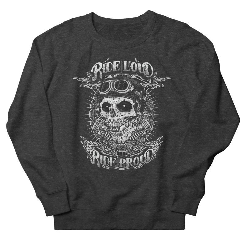 Ride Loud Ride Proud Biker Tee Men's Sweatshirt by Giftedshirt's Artist Shop