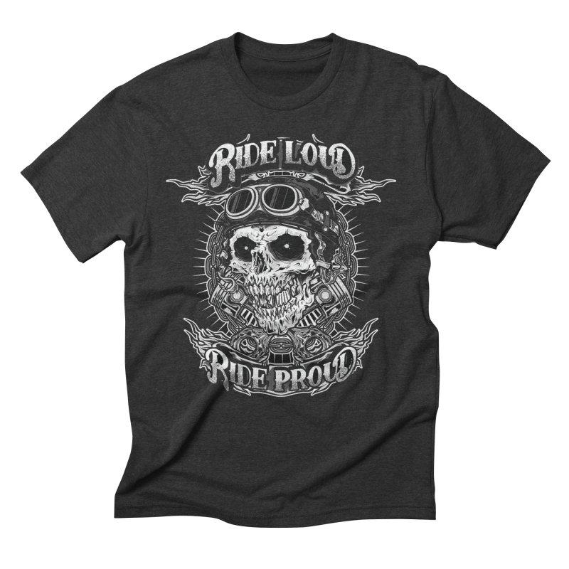 Ride Loud Ride Proud Biker Tee Men's Triblend T-Shirt by Giftedshirt's Artist Shop