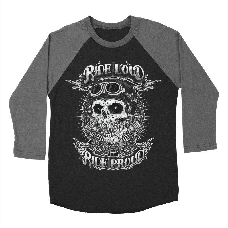 Ride Loud Ride Proud Biker Tee Women's Baseball Triblend T-Shirt by Giftedshirt's Artist Shop