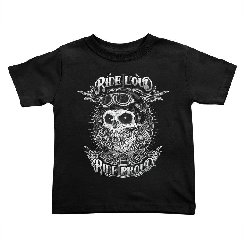 Ride Loud Ride Proud Biker Tee Kids Toddler T-Shirt by Giftedshirt's Artist Shop