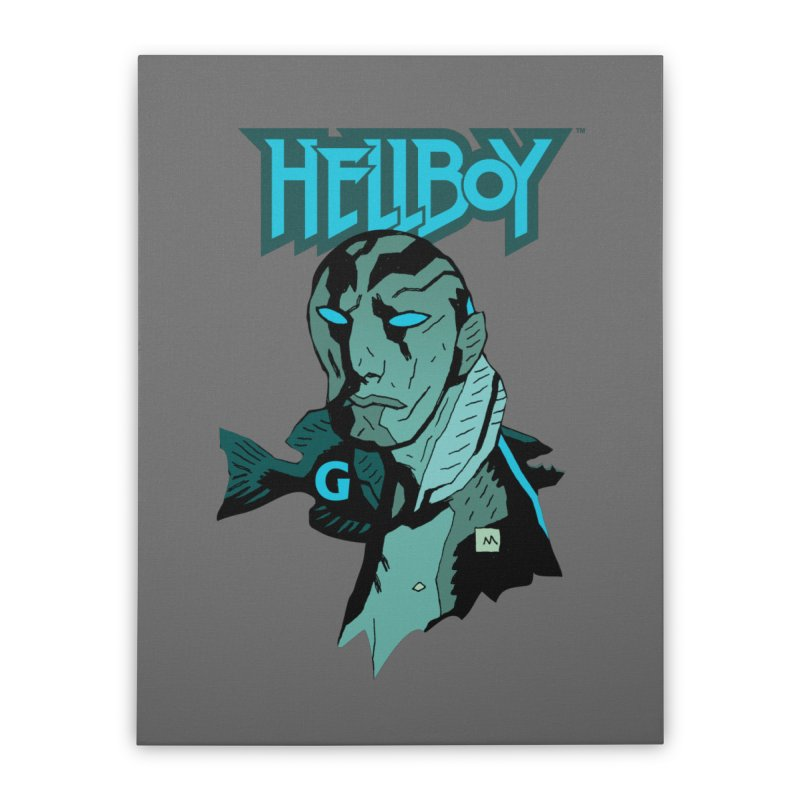 Hellboy > Abe Sapien-G Home Stretched Canvas by Gigantic Brewing Company