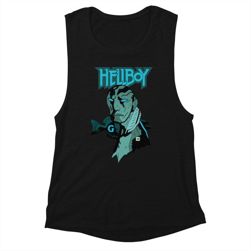 Hellboy > Abe Sapien-G Women's Tank by Gigantic Brewing Company