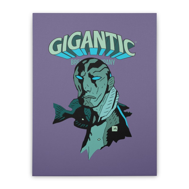 Gigantic Abe Sapien (Hellboy) Home Stretched Canvas by Gigantic Brewing Company