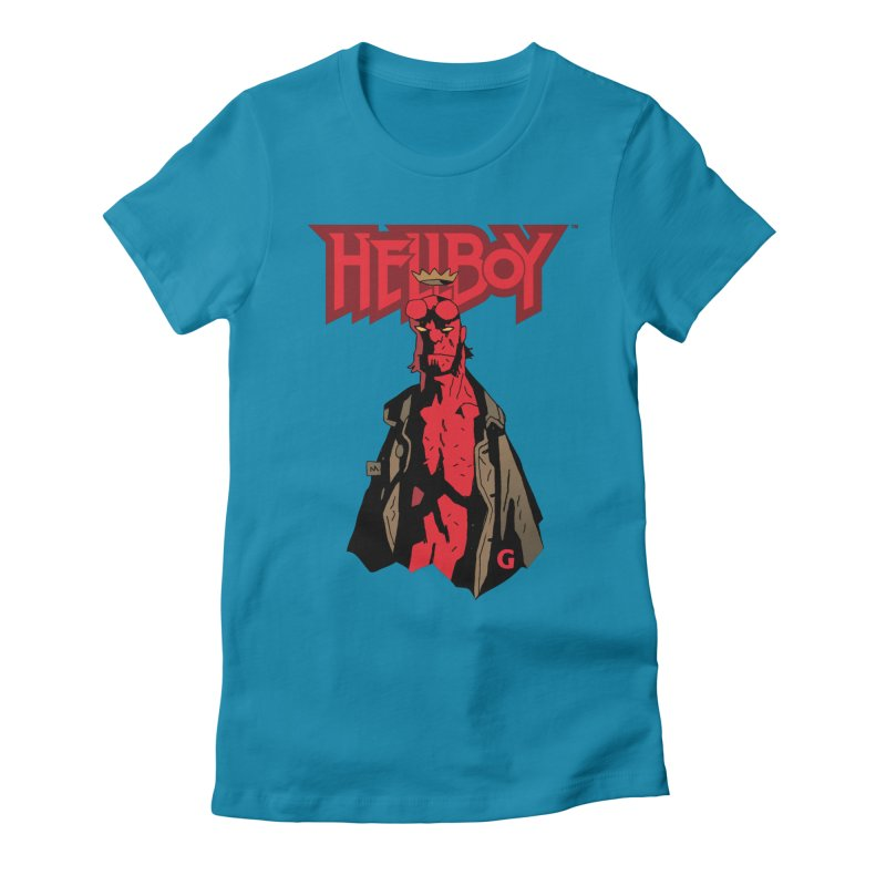 HELLBOY G Women's Fitted T-Shirt by Gigantic Brewing Company