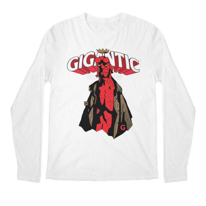 GIGANTIC HELLBOY Men's Regular Longsleeve T-Shirt by Gigantic Brewing Company