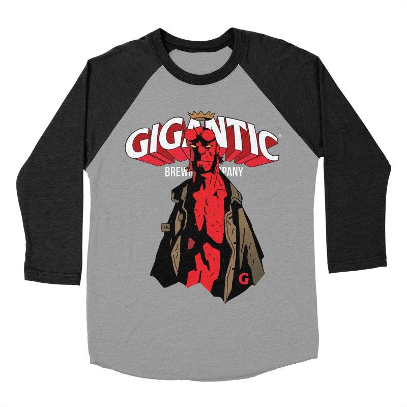 GIGANTIC HELLBOY Women's Baseball Triblend Longsleeve T-Shirt by Gigantic Brewing Company