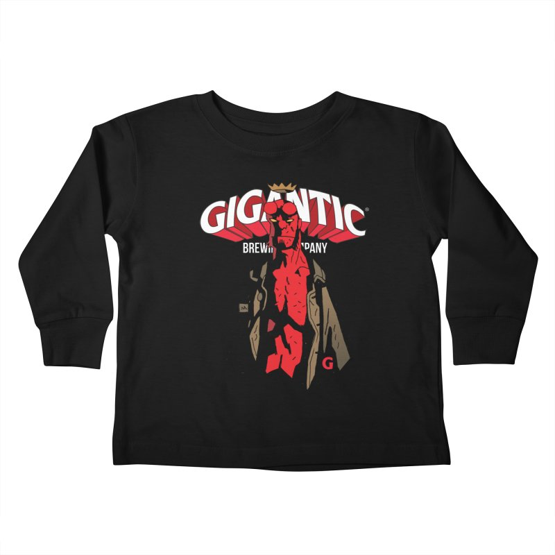 GIGANTIC HELLBOY Kids Toddler Longsleeve T-Shirt by Gigantic Brewing Company