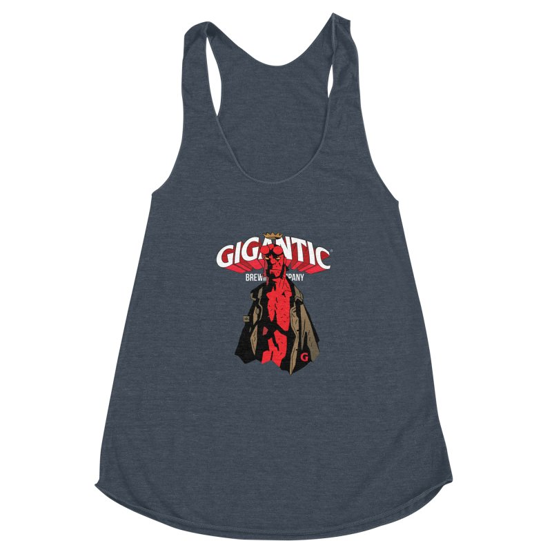 GIGANTIC HELLBOY Women's Racerback Triblend Tank by Gigantic Brewing Company