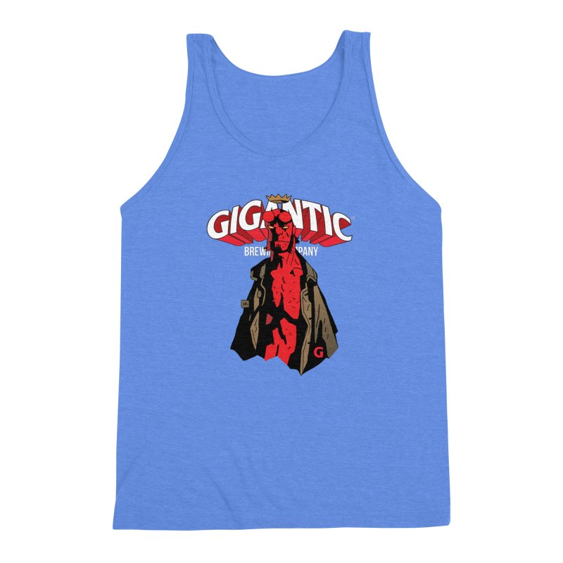 GIGANTIC HELLBOY Men's Triblend Tank by Gigantic Brewing Company