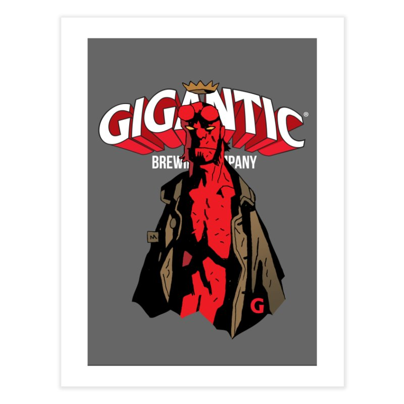 GIGANTIC HELLBOY Home Fine Art Print by Gigantic Brewing Company