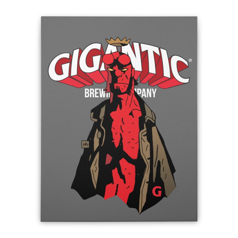 GIGANTIC HELLBOY Home Stretched Canvas by Gigantic Brewing Company