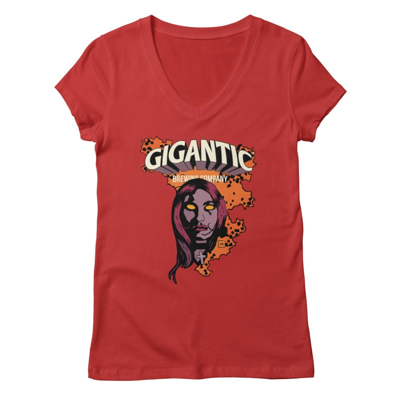 Gigantic Liz Sherman (Hellboy) Women's Regular V-Neck by Gigantic Brewing Company