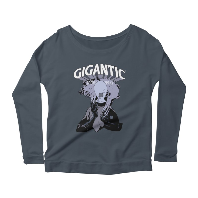 Gigantic Johann Kraus (Hellboy) Women's Scoop Neck Longsleeve T-Shirt by Gigantic Brewing Company