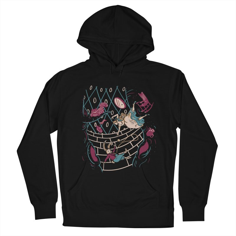 Follow the White Rabbit  Men's Pullover Hoody by Gil's Artist Shop