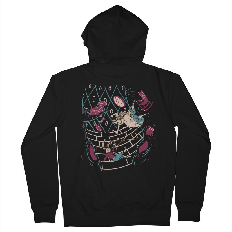 Follow the White Rabbit  Women's Zip-Up Hoody by Gil's Artist Shop
