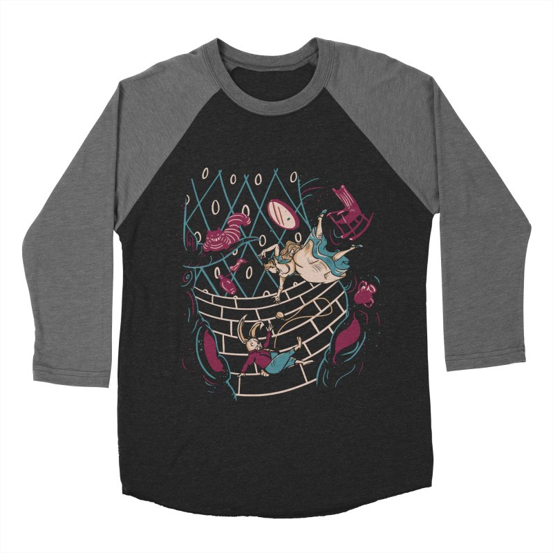 Follow the White Rabbit  Men's Baseball Triblend T-Shirt by Gil's Artist Shop