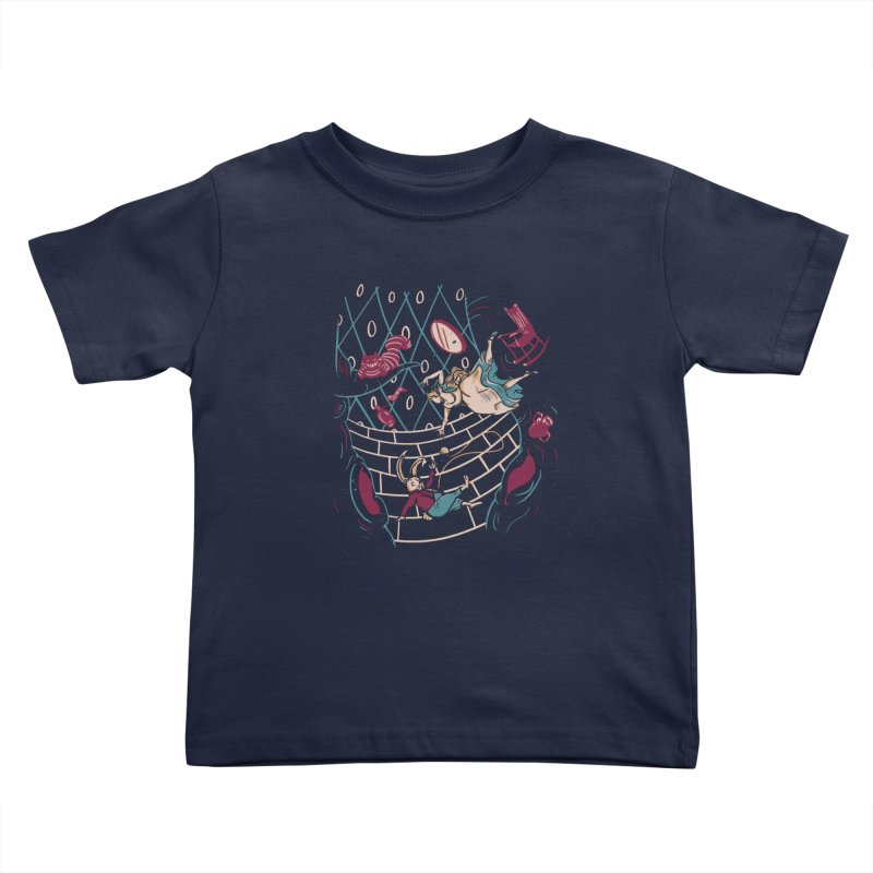 Follow the White Rabbit  Kids Toddler T-Shirt by Gil's Artist Shop
