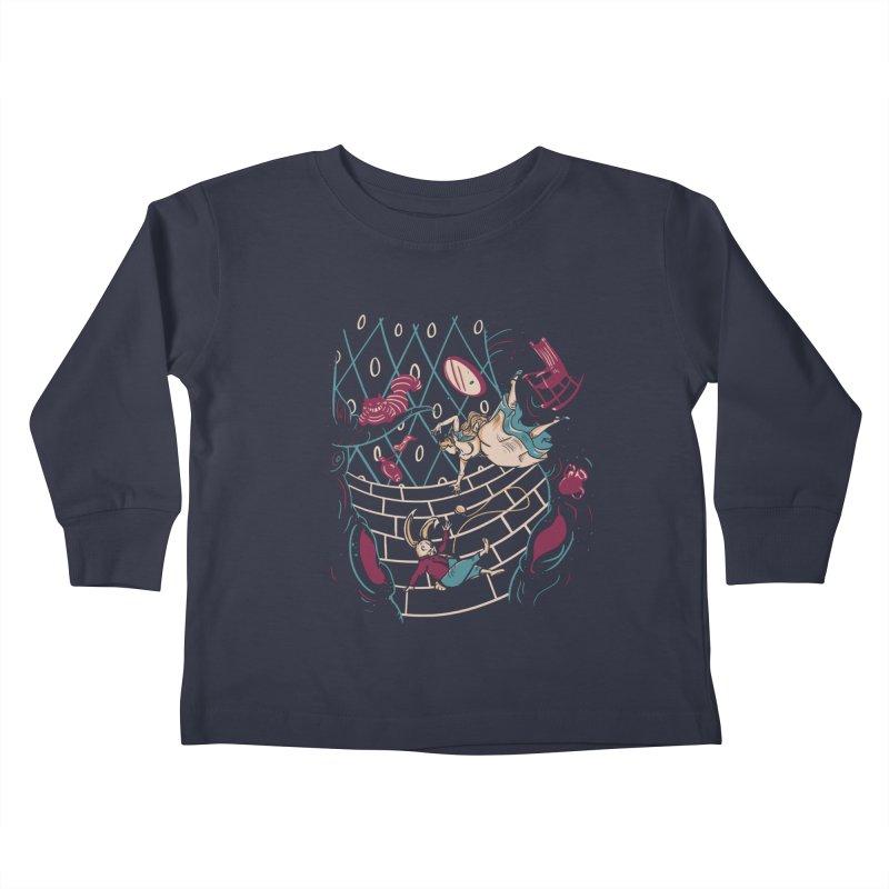 Follow the White Rabbit  Kids Toddler Longsleeve T-Shirt by Gil's Artist Shop