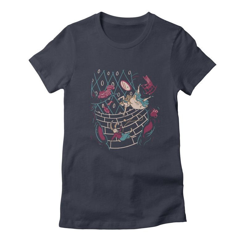 Follow the White Rabbit  Women's Fitted T-Shirt by Gil's Artist Shop