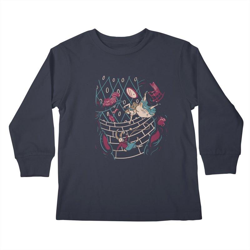 Follow the White Rabbit  Kids Longsleeve T-Shirt by Gil's Artist Shop