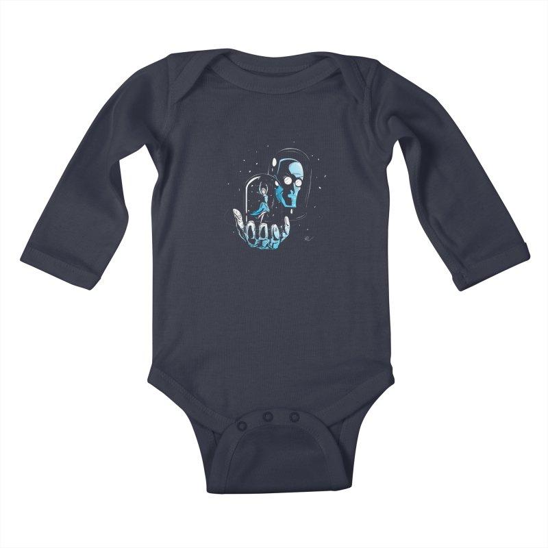 Frozen in Time Kids Baby Longsleeve Bodysuit by Gil's Artist Shop