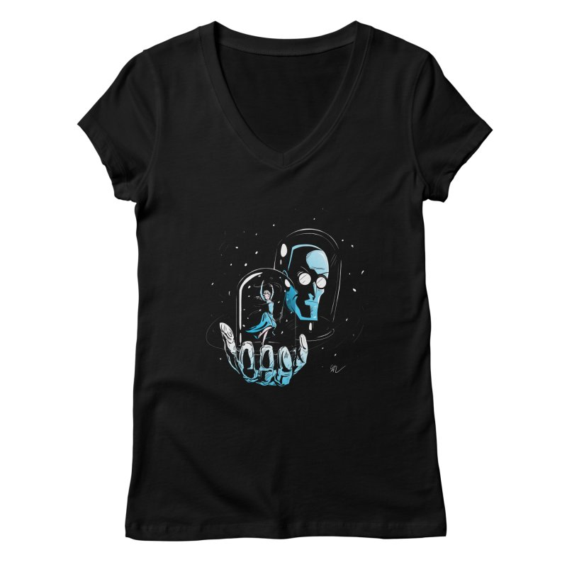 Frozen in Time Women's V-Neck by Gil's Artist Shop