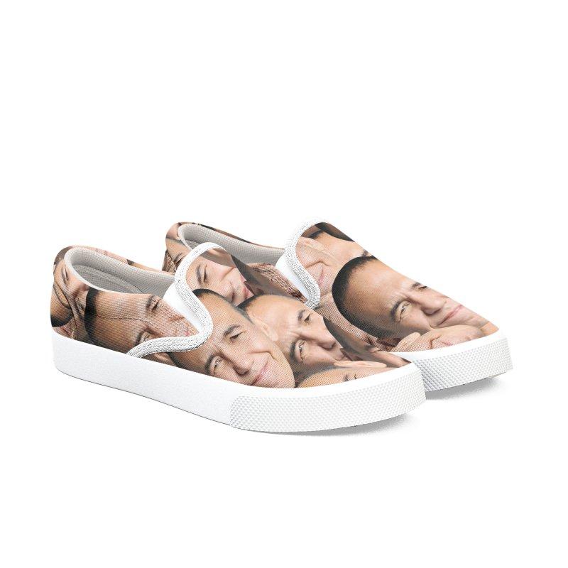 Gilbert Gottfried Collage in Men's Slip-On Shoes by GILBERT GOTTFRIED