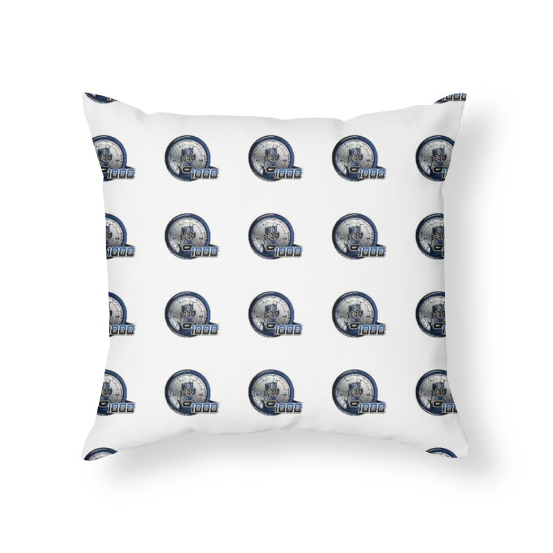 Grid Home Throw Pillow by Ginotopia