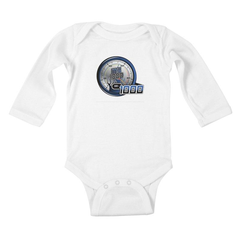 1000 Kids Baby Longsleeve Bodysuit by Ginotopia