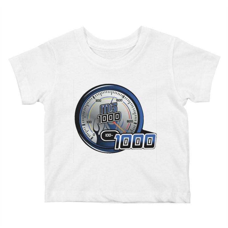 1000 Kids Baby T-Shirt by Ginotopia