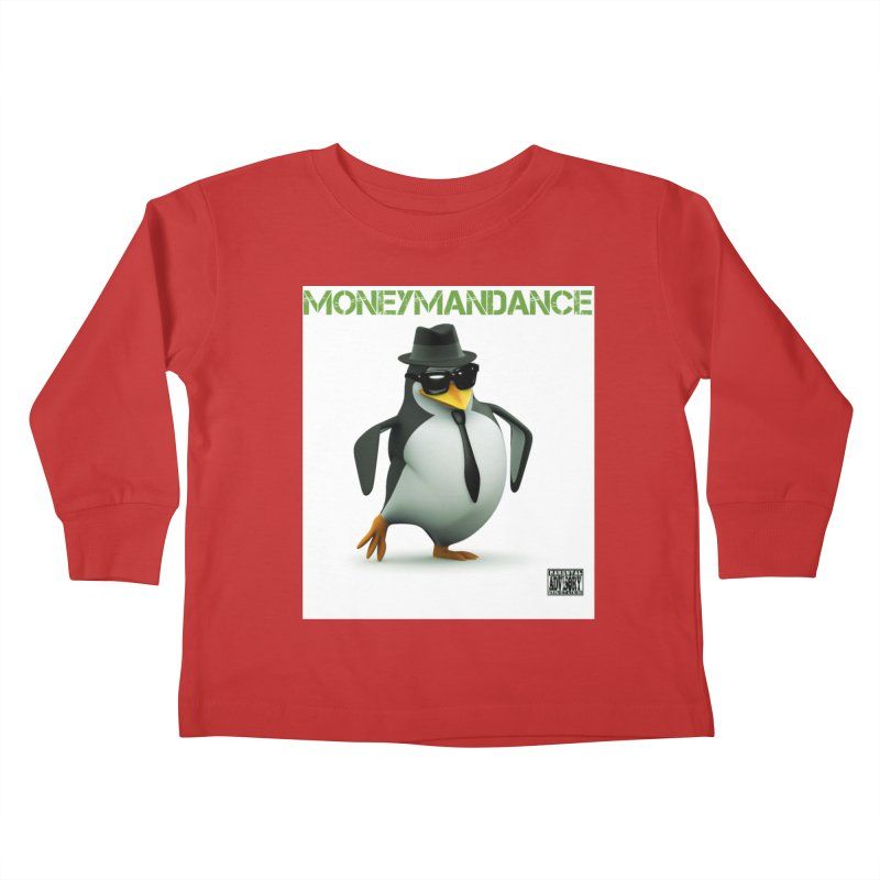 #MoneymanDance in Kids Toddler Longsleeve T-Shirt Red by Ginotopia