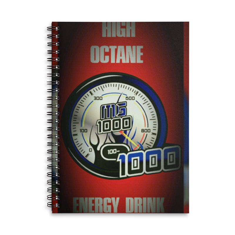 High Octane Accessories Lined Spiral Notebook by Ginotopia