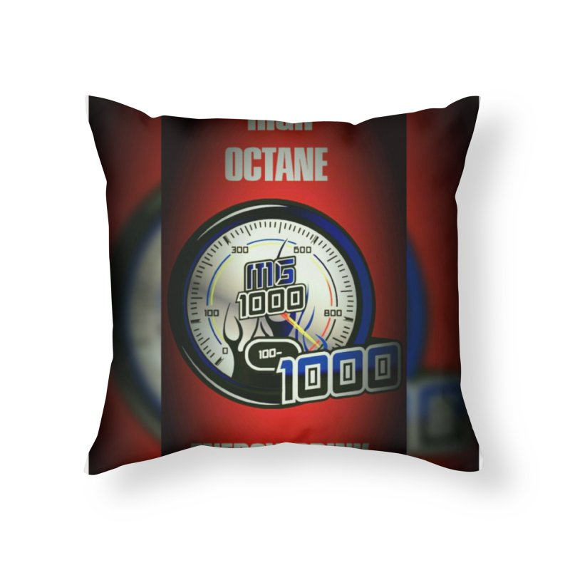 High Octane Home Throw Pillow by Ginotopia