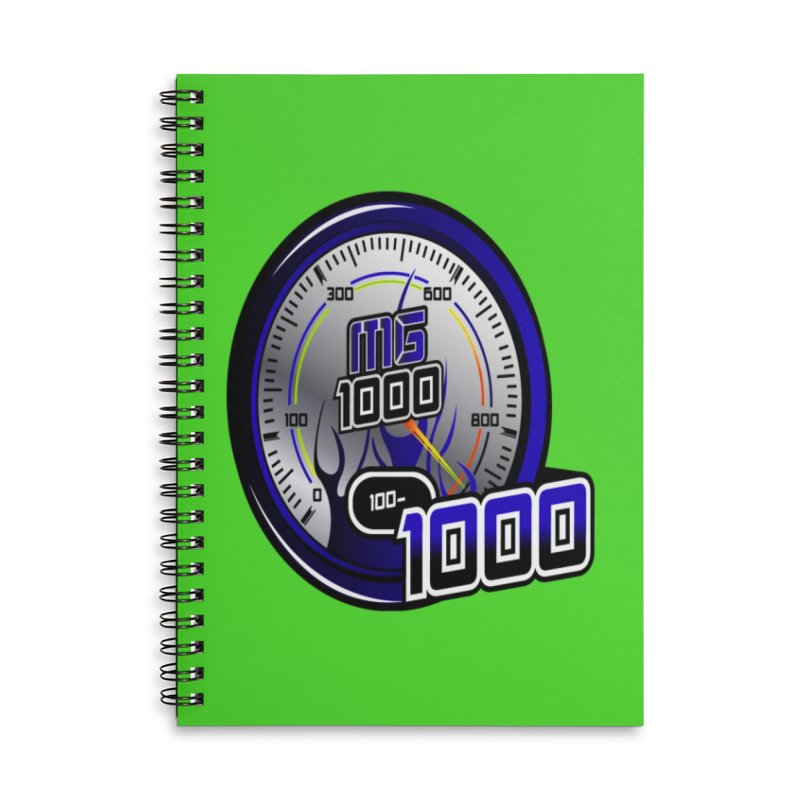 MG1000 Accessories Lined Spiral Notebook by Ginotopia