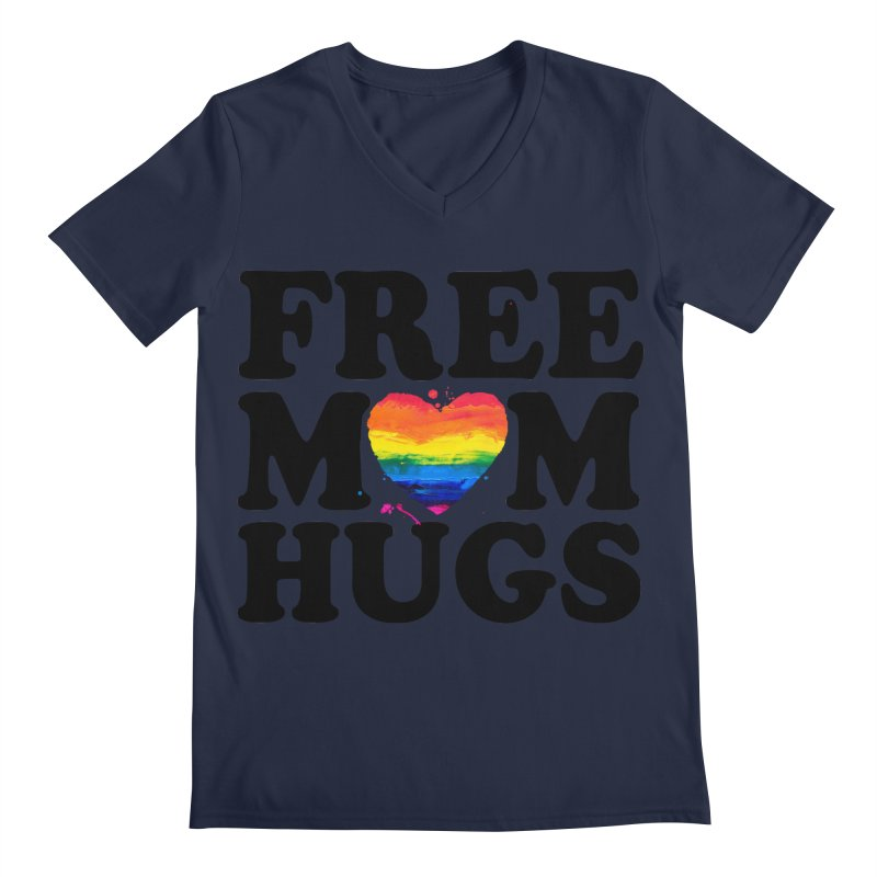 Free Mom Hugs Men's Regular V-Neck by Glitterlips's Artist Shop