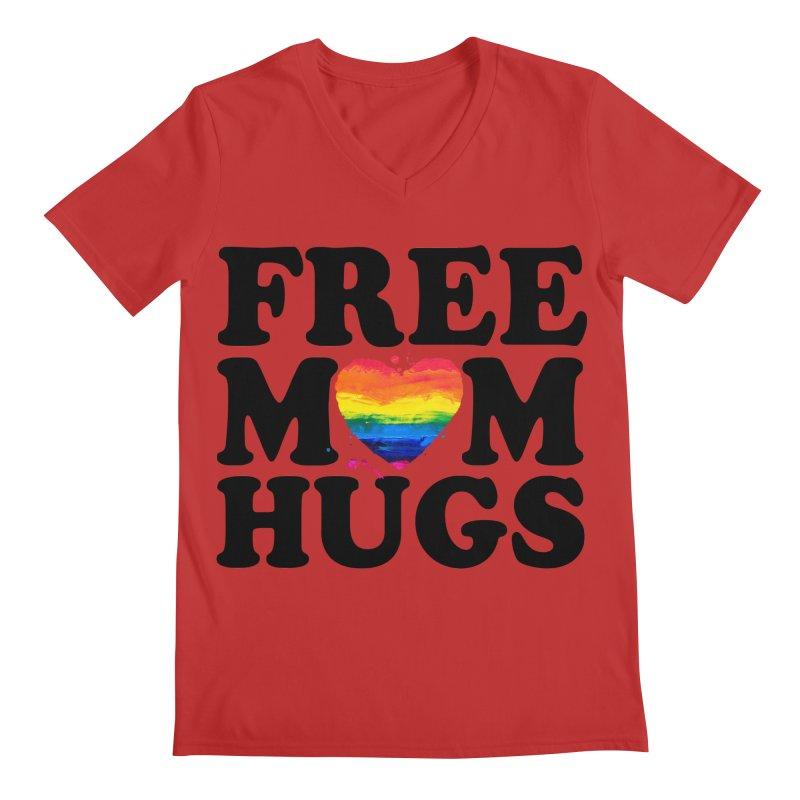 Free Mom Hugs Men's Regular V-Neck by Glitterlips's Artist Shop