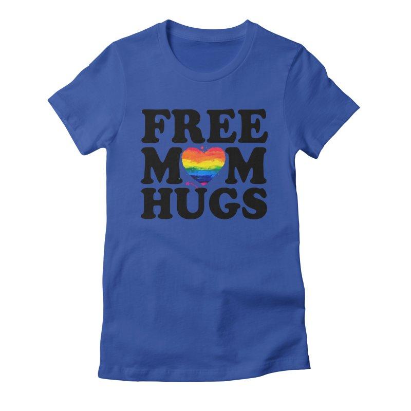 Free Mom Hugs Women's Fitted T-Shirt by Glitterlips's Artist Shop