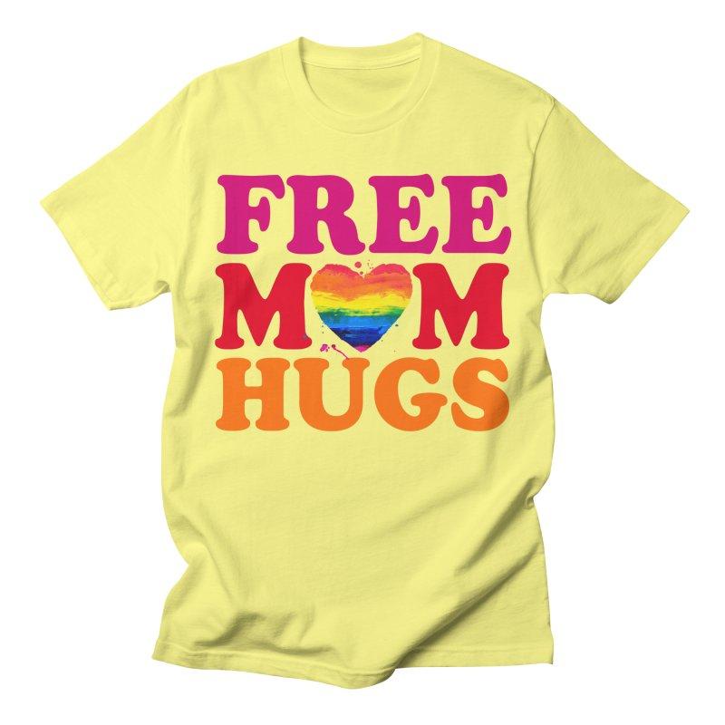 Colorful Mom Hugs Men's Regular T-Shirt by Glitterlips's Artist Shop