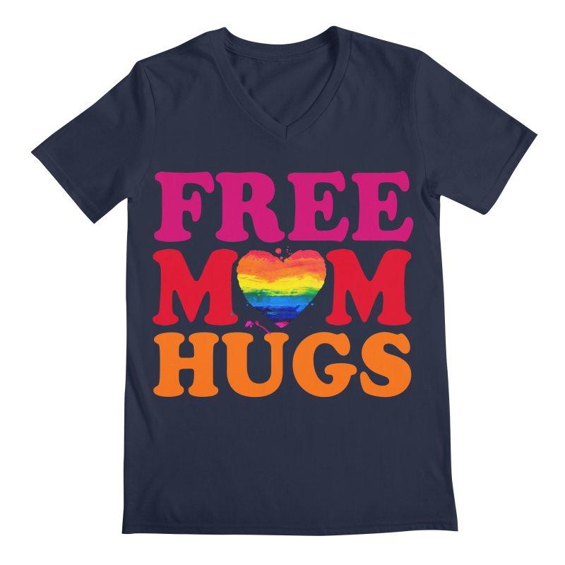 Colorful Mom Hugs Men's Regular V-Neck by Glitterlips's Artist Shop