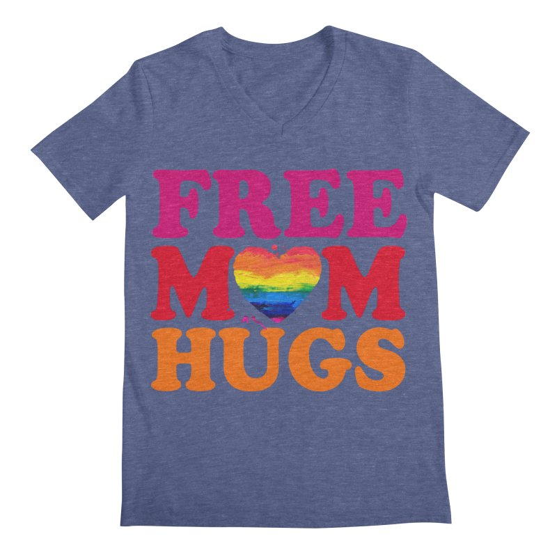Colorful Mom Hugs Men's Regular V-Neck by Glitterlips's Artist Shop