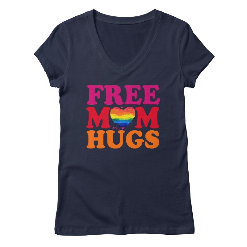 Colorful Mom Hugs Women's Regular V-Neck by Glitterlips's Artist Shop