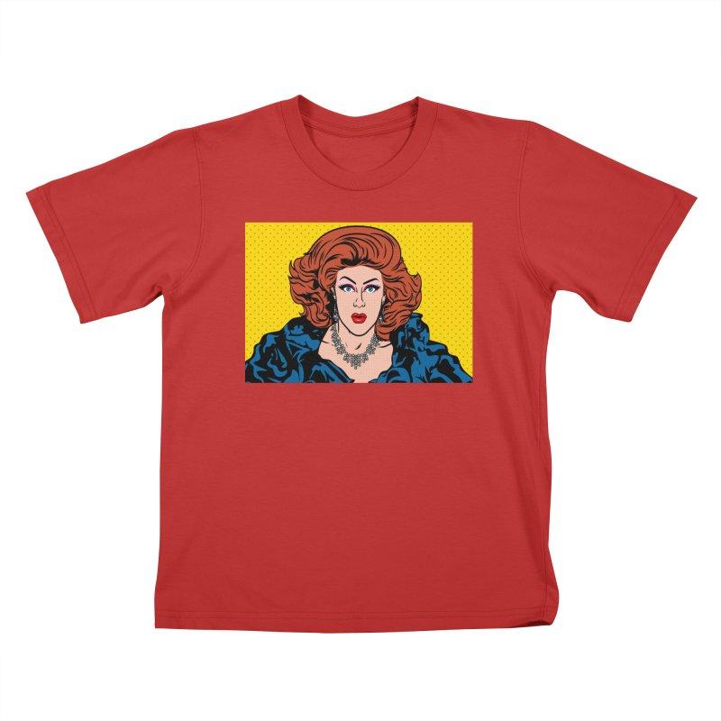 Pop Shirley Kids T-Shirt by Glitterlips's Artist Shop