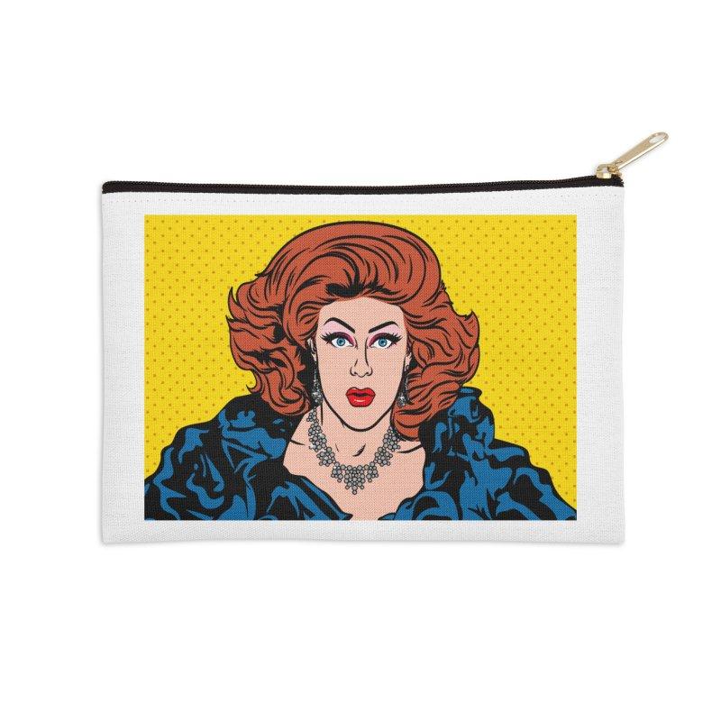 Pop Shirley Accessories Zip Pouch by Glitterlips's Artist Shop