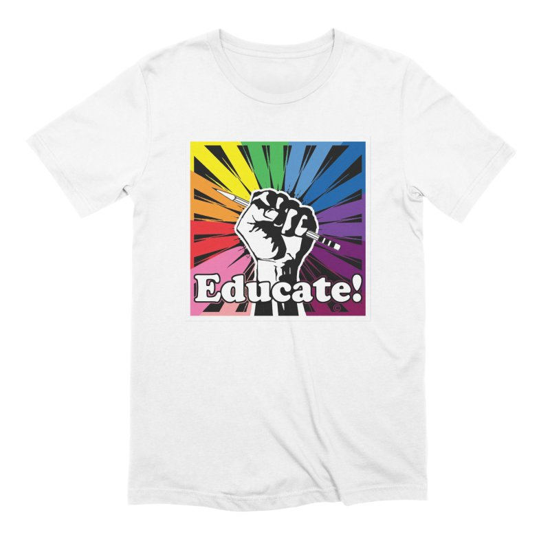 Rainbow Educate Men's Extra Soft T-Shirt by Glitterlips's Artist Shop