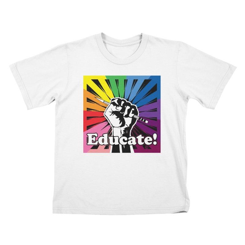 Rainbow PRIDE Kids T-Shirt by Glitterlips's Artist Shop