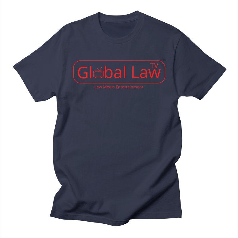 Global Law TV Logo Men's Regular T-Shirt by GlobalLawTV's Artist Shop