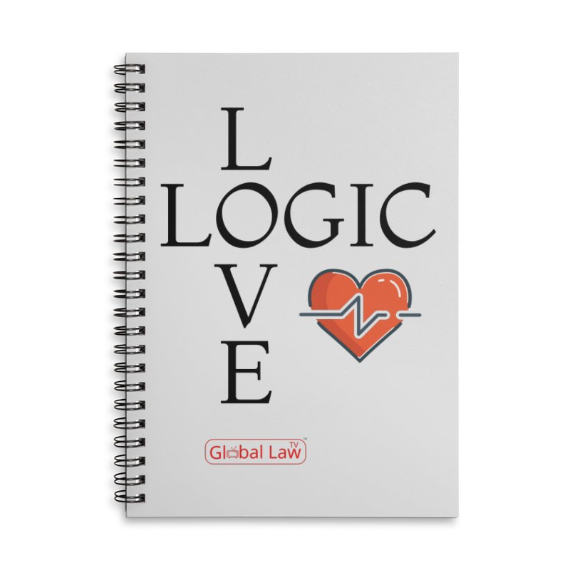 Love Logic Accessories Lined Spiral Notebook by GlobalLawTV's Artist Shop