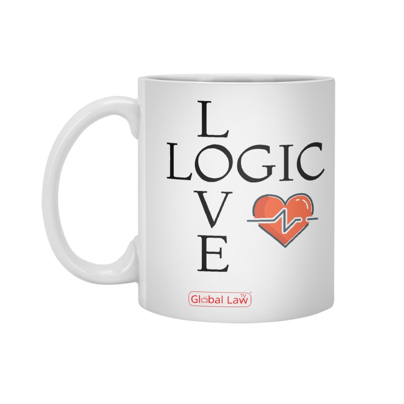 Love Logic Accessories Standard Mug by GlobalLawTV's Artist Shop