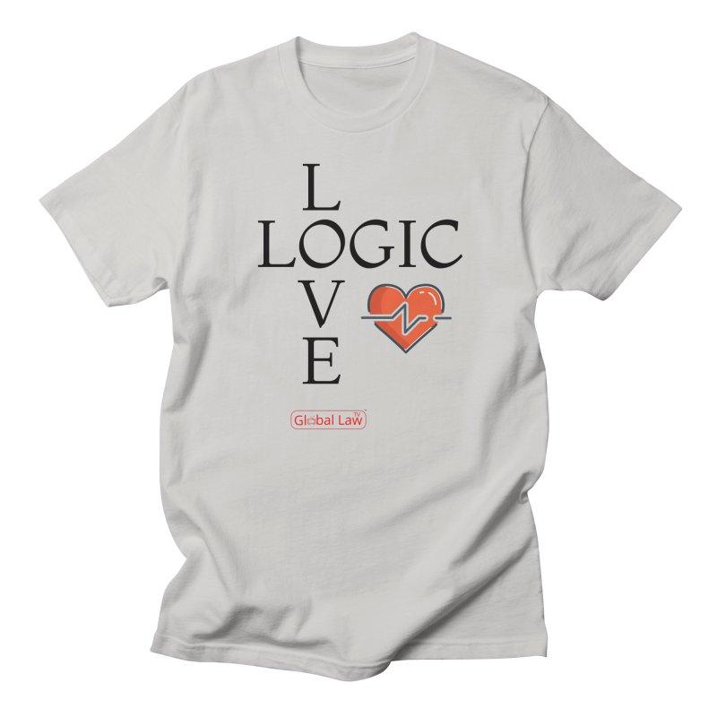 Love Logic Men's Regular T-Shirt by GlobalLawTV's Artist Shop