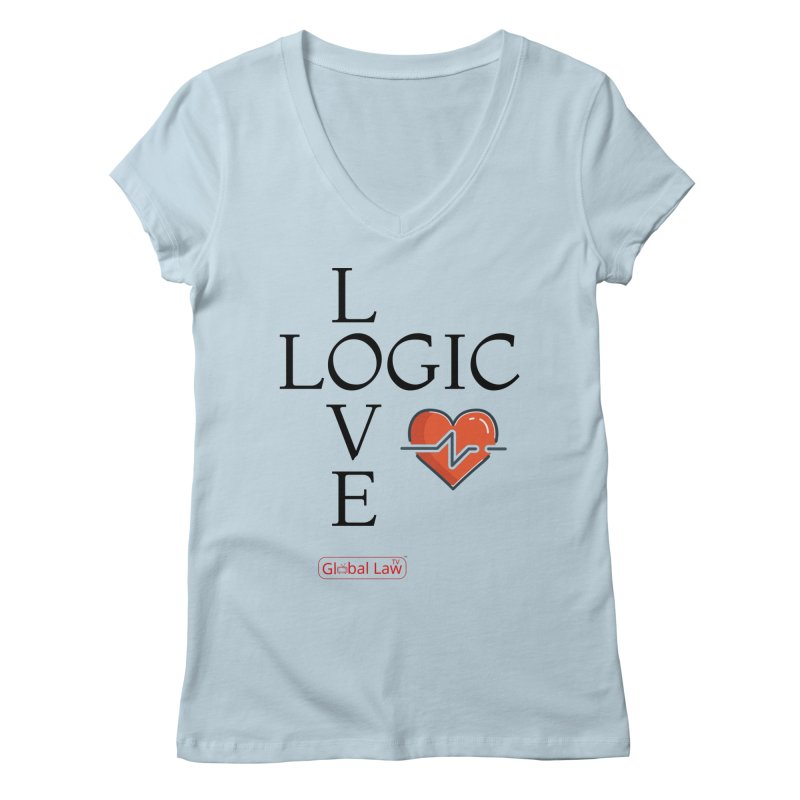 Love Logic Women's Regular V-Neck by GlobalLawTV's Artist Shop